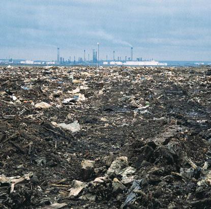 Toxic waste refinery dump,UK