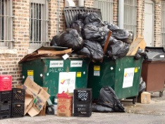 WHEN PEOPLE THINK OF IMPORTANT JOBS THAT CAN NOT BE LEFT OUT OF OUR LIVES THEY DO NOT NORMALLY THINK OF WASTE COLLECTORS. BUT DURING A HAULERS STRIKE GARBAGE PILES UP AND BEGINS TO SMELL. THERE IS NOWHERE TO PLACE IT ALL AND PESTS RUN RAMPANT AS THEIR AVAILABLE FOOD BECOMES ABUNDANT. DUMPSTERS OVERFILLED TRASH WASTE HAULER STRIKE