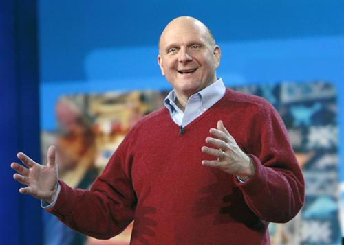 Microsoft CEO Steve Ballmer speaks at the Consumer Electronics Show in Las Vegas