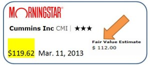 CMI -  Morningstar ratings