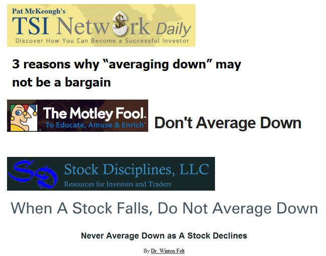 Don't Average Down    -  quotes
