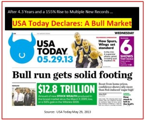 USA Today Bull Market headline