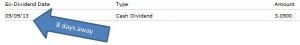 AAPL dividend info