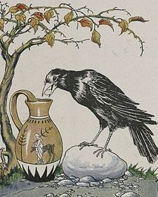 225px-The_Crow_and_the_Pitcher_-_Project_Gutenberg_etext_19994